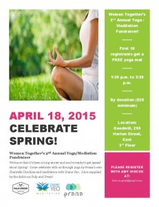 Women Together's 2nd Annual Yoga and Meditation Fundraiser